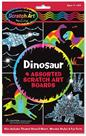 Dinosaur Scratch Art