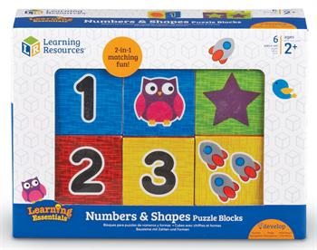 Learning Resources Numbers and Shapes Puzzle Blocks