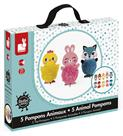 Janod Animal Pompom Craft Kit